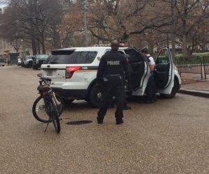 عبوة مشبوهة أمام البيت الأبيض والقبض على مجهول