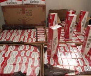 جمارك بورسعيد تضبط محاولة تهريب كمية من السجائر الأجنبية الغير خالصة الرسوم الجمركية والضرائب