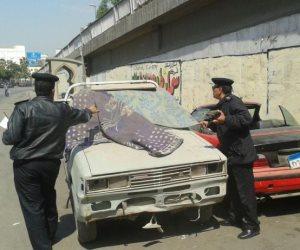 المرور يضبط 11 سيارة ودراجة بخارية متروكة في حملات بالجيزة