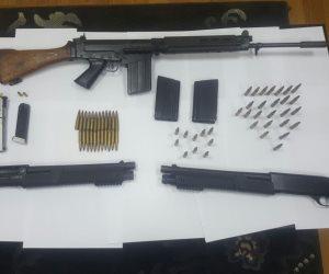 ضبط 5 أسلحة و13 قضية مخدرات خلال حملة أمنية بالجيزة