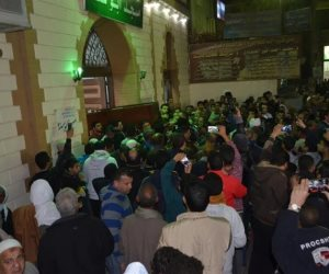 أهالي بني سويف يشيعون جنازة 4 عمال لقوا مصرعهم في حادث بالأردن