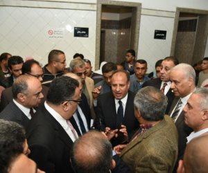 محافظ الإسكندرية يطمئن على حالات مصابي حادث الكنيسة المرقسية