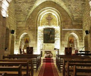 كنيسة مار جرجس تتأهب لقداس الأربعين على شهداء أتوبيس المنيا