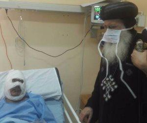 الأنبا بولا يزور مصابي تفجير كنيسة مارجرجس بطنطا (صور)