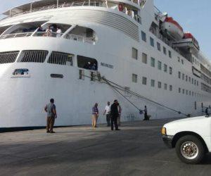 وصول 367 سائحا و طاقم لميناء سفاجا