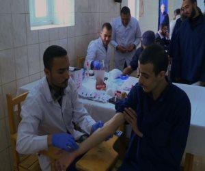 إجراء الفحص الطبي لـ 1080 من النزلاء والعاملين بسجن جمصة في الدقهلية