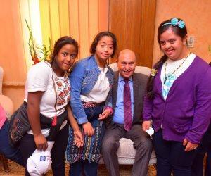 مهاب مميش يزور لجنة «المرأة ذات الإعاقة» بالمجلس القومي للمرأة (صور)