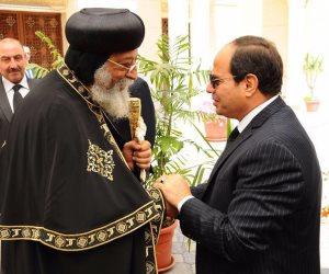 الرئاسة: لهذا السبب زار الرئيس السيسى الكاتدرائية