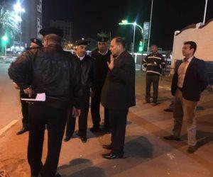 بالصور.. جولة لقيادات الأمن بالإسماعيلية قبل مواجهة المصرى وكمبالا