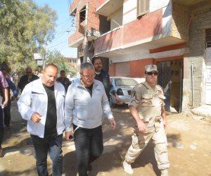 محافظ المنيا يوجه بحصر المباني والأبراج المخالفة بمنطقة أبوفليو (صور)