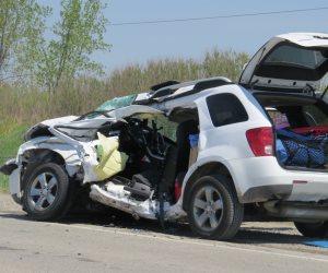 مصرع سيدة واصابة 7 آخرين في حادث تصادم سيارة بالإسكندرية