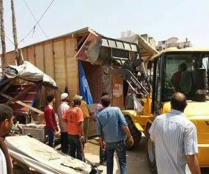 ضبط 4 «خلاطات بناء» ولودرين في حملة على المباني المخالفة بالهرم