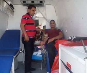 أوقاف شمال سيناء تنظم حملة للتبرع بالدم في مدينة بئر العبد (صور )