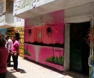 لوحات فنية تزين واجهات المنازل بالمطرية في مبادرة بين الحي والأهالي (صور)