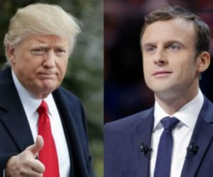 ماكرون يبحث مع ترامب قضايا السلام بالشرق الأوسط