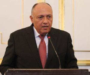 وزير الخارجية يستقبل نظيره الفرنسي لبدء المباحثات الثنائية
