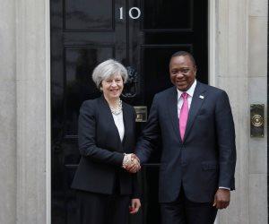 عاجل| تيريزا ماي تلتقي الرئيس الكيني ورئيس وزراء إثيوبيا.. والسبب