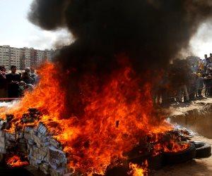 حرق كميات كبيرة من المواد المخدرة فى غزة