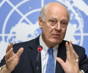 المبعوث الأممى لسوريا يطالب المعارضة والحكومة بالمشاركة فى محادثات جنيف بدون شروط