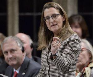 وزيرة الخارجية الكندية تبحث في واشنطن اتفاقية «نافتا» الثلاثاء المقبل