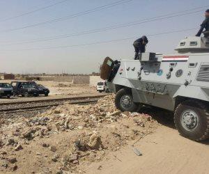 أمن القاهرة يسترد 320 فدانا متعدى عليها بحلوان (صور)