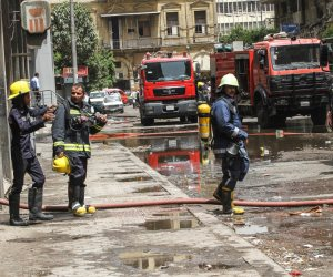 السيطرة على حريق مخلفات و أشجار فى غمرة