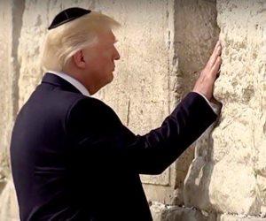 ترامب وعائلته يزورون حائط البراق (صور)