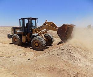 أمن أسوان يبدأ في إزالة تعديات على مساحة 4864 فدانا بنصر النوبة (صور)
