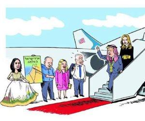 يديعوت أحرنوت تستقبل ترامب بكريكاتير مسيئ: أصبحت عربيا