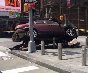 حادث صدم جماعى في أشهر ميادين نيويورك