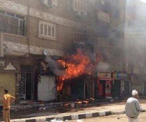 حريق بأحد أكشاك الباعة على رصيف 9 بمحطة رمسيس