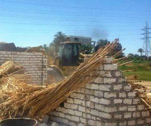 أمن الغربية: إزالة 95 حالة تعد بالبناء على نهر النيل