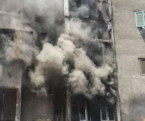 الحماية المدنية تسيطر على حريق إمبابة(صور)