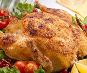 فطارك عندنا ... دجاج محشي بالأرز و سلطة بطاطس بالمايونيز و الحلو جلاش بالمكسرات