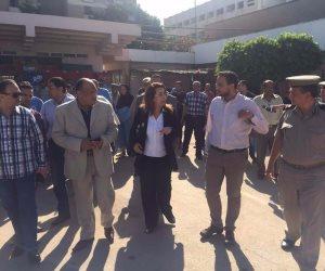 غادة والي تتجه إلى معهد ناصر لزيارة مصابي حادث المنيا الإرهابي