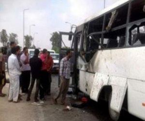 إصابة 2 سودانين في حريق أتوبيس ركاب بطريق قنا القاهرة الصحراوي الشرقي