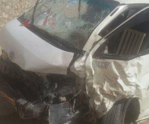 الصحة:مصرع وإصابة 12شخصا فى انقلاب ميكروباص بالجيزة
