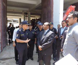 مدير أمن الغربية يتفقد إدارة الحماية المدنية ويجتمع بالضباط (صور)
