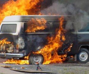 السيطرة على حريق سيارة دون إصابات في الشروق