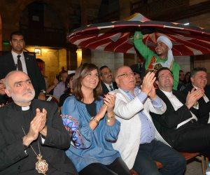 وزيرا الثقافة والهجرة يشهدان التنورة في الغوري (صور)