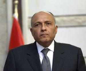 شكري يجري مباحثات مع وزير خارجية إيطاليا خلال مشاركته بالاجتماع الوزاري السداسي