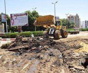 بدء أعمال الحفر في 10 شوارع بحي النزهة لتقوية شبكات الضغط العالي