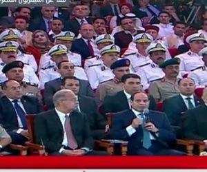 السيسي: مش هسمح لحد يضيع الـ 93 مليون مصري