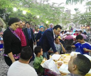 أمين الأعلى للثقافة على مائدة ذوي الاحتياجات الخاصة في السيدة زينب (صور)