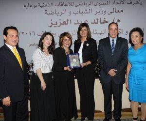 تكريم متحدي الإعاقة بحضور نبيلة مكرم وكندة ومحمد ثروت.. مي المهيلمي الأولى في السباحة