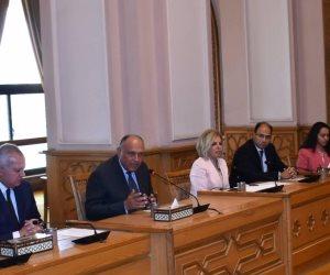 وزير الخارجية يلتقي مشيرة خطاب المرشحة لمنصب مدير عام اليونسكو (صور)