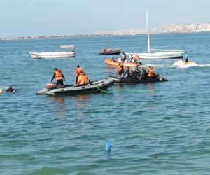 عرض تدريبي لقوات الإنقاذ النهري والبحري في الإسكندرية  (صور )