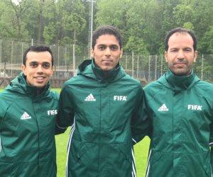طاقم سعودي يدير مباراة روسيا والمكسيك في كأس القارات