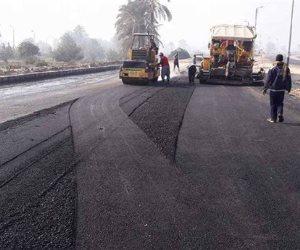 رصف الطريق الدائري لقرية سمادون بتكلفة مليون و600 ألف جنيه بالمنوفية