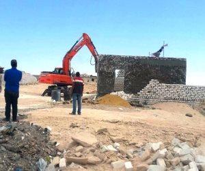 إزالة تعديات على 2700 فدان وتسليمها لجهات الولاية بمطروح (صور)